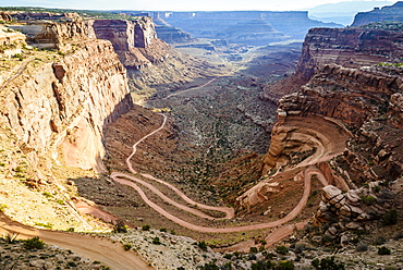 Aerial view of rock formations, Canyonlands, Utah, United States