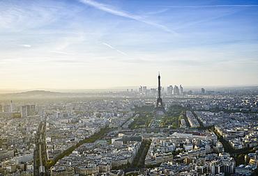 Aerial view of Paris cityscape, Paris, Ile de France, France