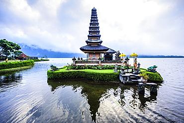 Pagoda floating on water, Baturiti, Bali, Indonesia, Baturiti, Bali, Republic of Indonesia