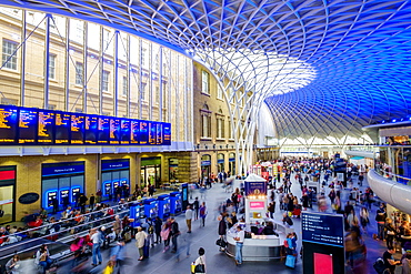 Modern architecture at train station, London, Greater London, England