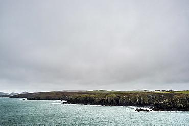 View along the coastline of Pembrokeshire National Park, Wales, UK, Pembrokeshire National Park, Wales