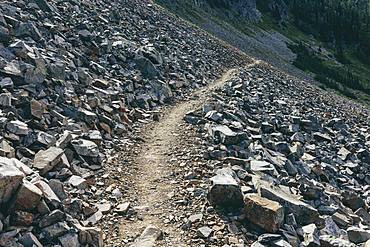 The Pacific Crest Trail near Hart's Pass in the Pasayten Wilderness, Okanogan-Wenatchee National Forest, about 35 miles from the Canadian border in the North Cascades in Washington