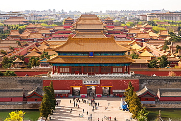 View over Forbidden City in Beijing, China, Beijing, China