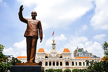 Statue of Ho Chi Minh in downtown Saigon, Vietnam