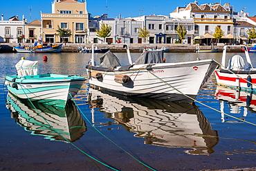 Fishing boats at Tavira, Eastern Algarve, Portugal