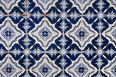 Vintage blue tiles, Algarve, Portugal