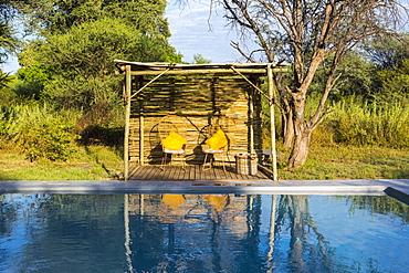 A swimming pool at a safari camp