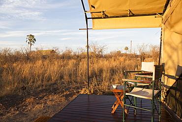 Tented camp in the Kalahari Desert