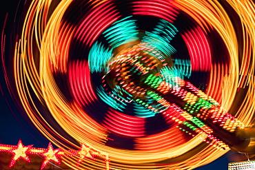 Amusement Park Ride At Night, Tigard, Oregon, United States