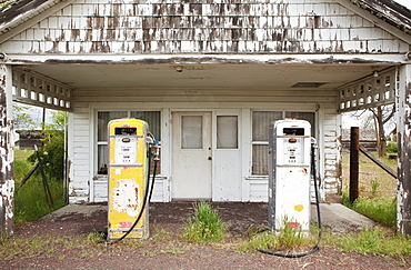 Old Gas Pumps, Kent, Oregon, United States