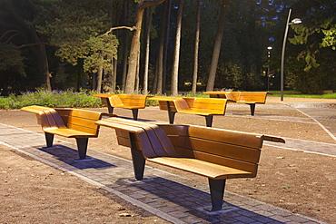Contemporary Benches at a Park, Estonia