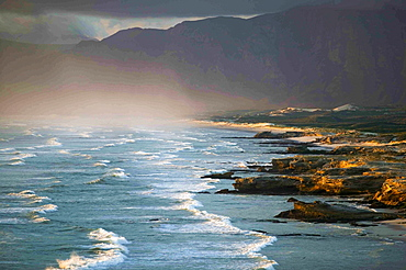 View along the coastline near De Kelders, South Africa