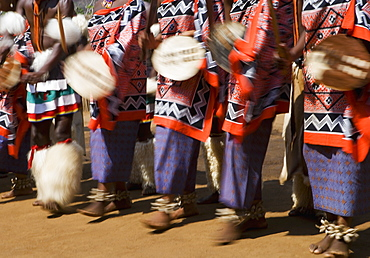 Dancers wearing traditional dress, Kingdom of Eswatini, Southern Africa
