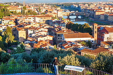 View of city from Piazza Michelangelo, Florence, Tuscany, Italy
