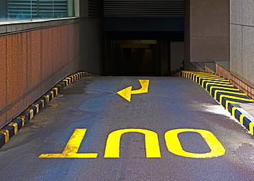 Out ramp in parking garage