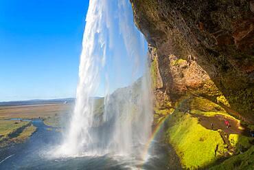 The spectacular Seljalandsfoss Waterfall, South Iceland