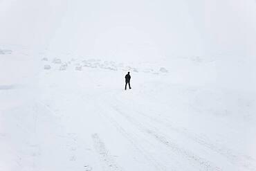 Snowy road, Tasiilaq, Greenland