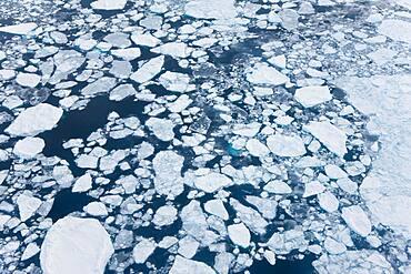 Aerial view of sea ice, Kulusuk, East Greenland