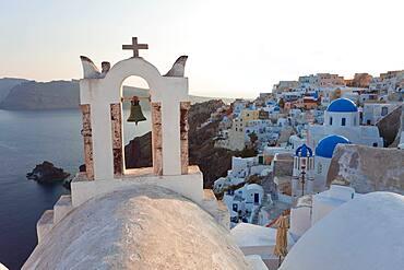 The village of Oia Santorini Cyclades islands, Greece