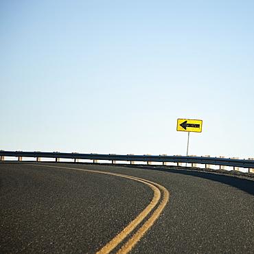 Road Curving Left, Washington, United States of America