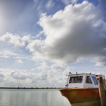 Docked Boat and Sky, Venice, Italy