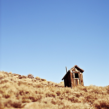 Dilapidated Outhouse on Hillside, Bodie, California, United States of America