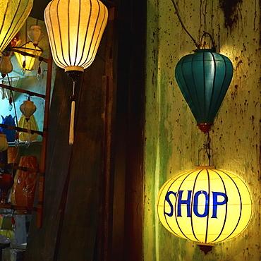 Lanterns at a Gift Shop Entrance, Hoi An, Quang Nam, Vietnam