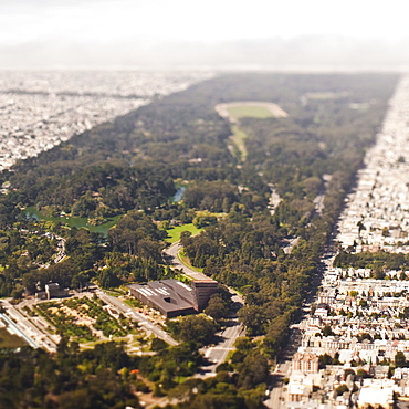 Park and the urban sprawl of a city