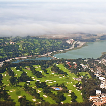 Aerial view of urban sprawl of San Francisco