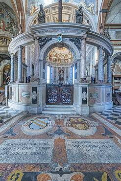 Interior of Verona Cathedral, Verona, Italy.