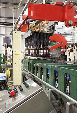 Bottling plant for beer, automated process