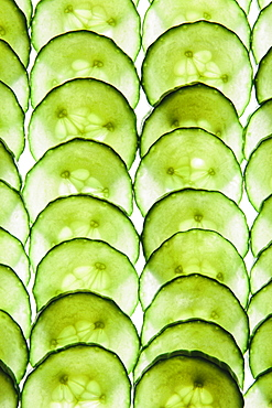 Organic cucumber slices, Washington, USA