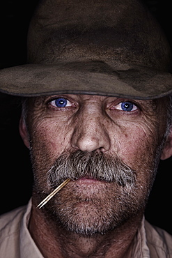 Cowboy portrait, Saskatchewan, Canada