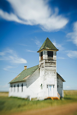 An abandoned church on the prairie, United States of America