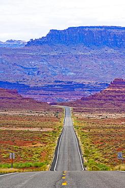 Road Through Desert, Arizona, United States of America