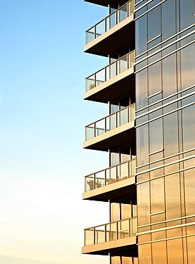 Balconies on Skyscraper, Portland, Oregon, United States of America