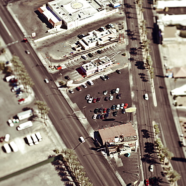 Aerial View of City Streets, Las Vegas, Nevada, United States of America