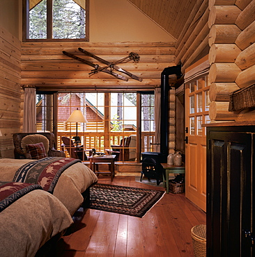 Resort Log Cabin Interior, United States of America
