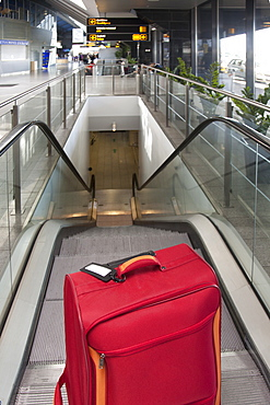Luggage at the Top of an Escalator, Estonia