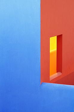 Blue and Orange Walls, San Jose Los Cabos, Baja California, Mexico