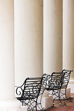 Wrought Iron Chairs and Columns, Louisiana, USA