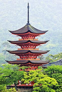 Pagoda, Honshu island, Japan, Asia, Honshu island, Japan, Asia