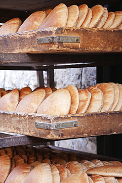 Fresh Baked Pita Bread, Jerusalem, Israel