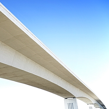 Concrete overpass against blue sky, Daytona, Florida, USA