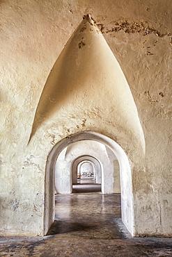 Stone archways in castle, Castillo San Cristobal, San Juan, Puerto Rico, San Juan, San Juan, Puerto Rico