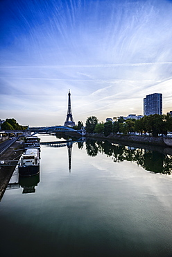 Eiffel Tower and Seine River, Paris, France, Paris, France