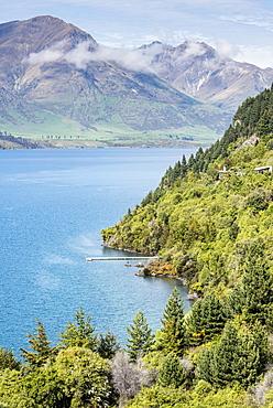 Aerial view of Lake Wanaka, New Zealand, Wanaka, Lake Wanaka, New Zealand