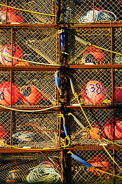 Buoys in net baskets