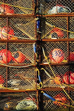 Buoys in net baskets