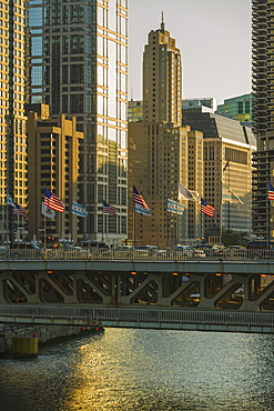 Bridge over Chicago River, Chicago, Illinois, United States, Chicago, Illinois, USA